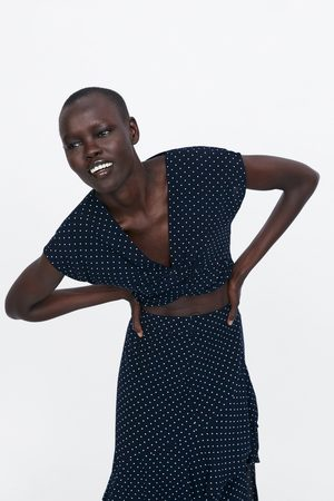 Zara Polka dot crop top