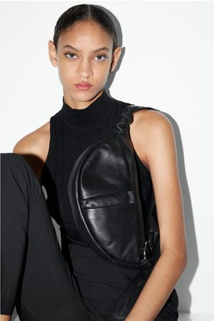 Zara Women Shoulder Bags - Leather crossbody belt bag