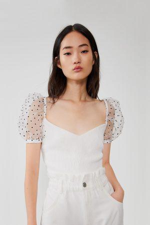 Zara Polka dot combined top