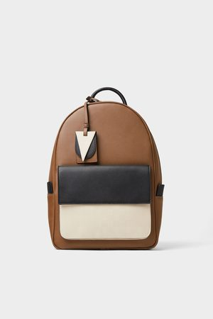 Zara Three-tone backpack
