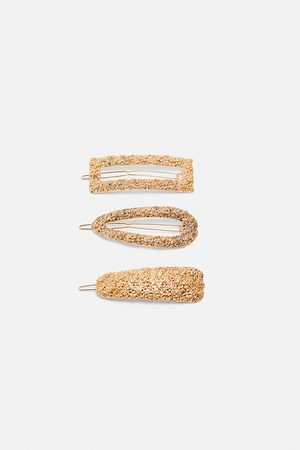 Zara Pack of textured hair clips
