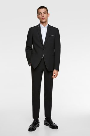 Zara Suit blazer with contrast trim