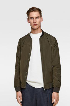 Zara Bomber jacket with contrast collar