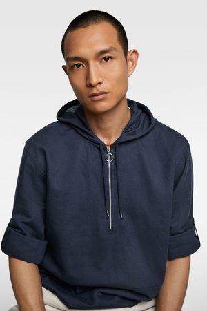 d71ea1fe10 Hooded rustic shirt