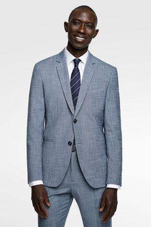 Zara Textured stretch suit blazer