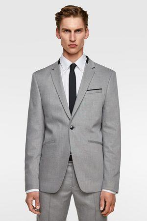 Zara Contrast texture suit blazer