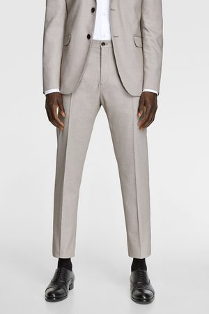 Zara Bird's-eye suit trousers