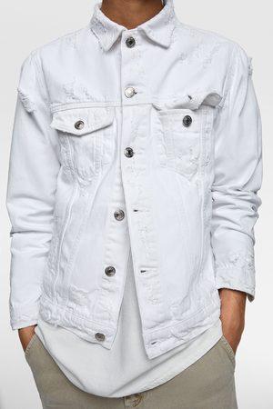 Zara Ripped denim jacket