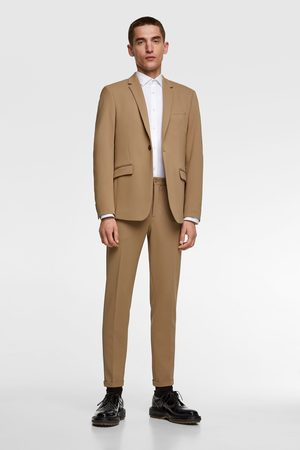 Zara 4-way comfort knit textured suit blazer