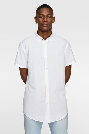 Zara Short sleeve textured shirt