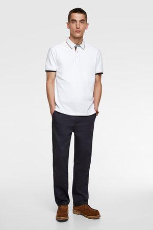 Zara Polo shirt with contrast trim