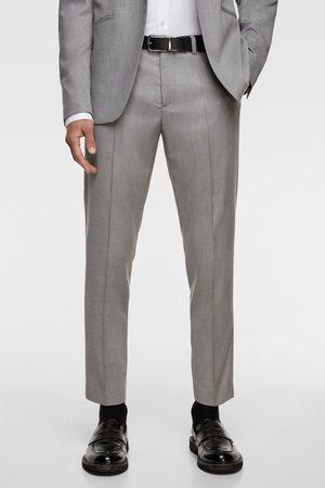 Zara Contrast texture suit trousers