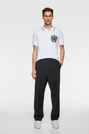 Zara Polo shirt with contrasting crest