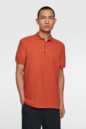 Zara Textured polo shirt