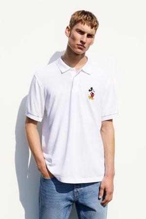 Zara Mickey © disney embroidered polo shirt