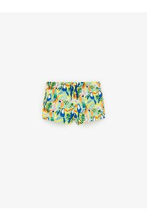 Zara Bird print swim bermuda shorts