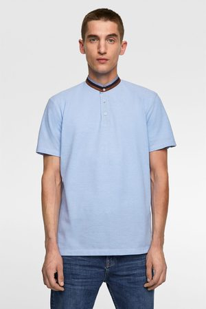 Zara Stand-up collar polo shirt