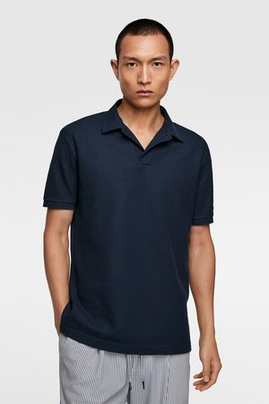Zara Piqué structured polo shirt