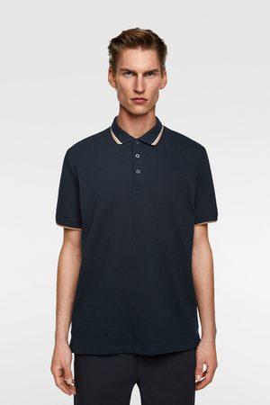 Zara Men Polo Shirts - Jacquard polo sweater