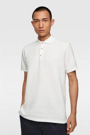 Zara Men Polo Shirts - Textured polo shirt