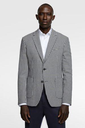 Zara Textured check blazer