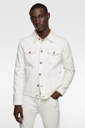 Zara Denim jacket with contrast topstitching
