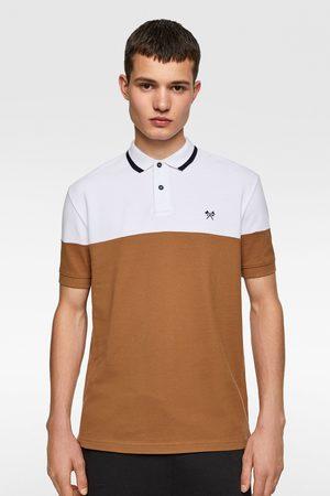 Zara Color block polo shirt