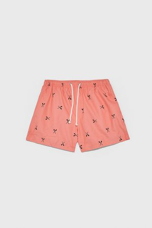 Zara Swimming trunks with a paddle print