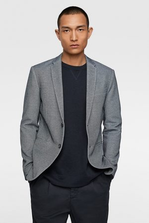 Zara Basic textured blazer