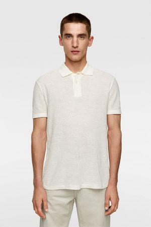 Zara Rustic knit polo shirt