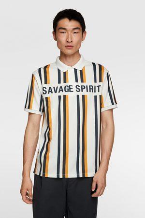 Zara Stripe print polo shirt