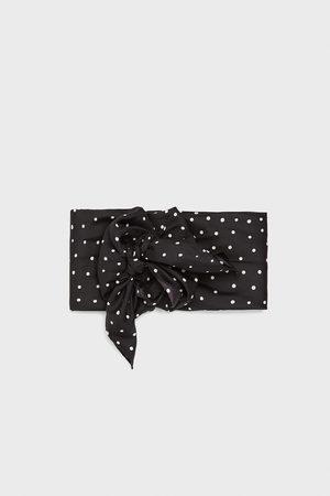 Zara Scarf with a polka-dot print
