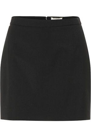 Saint Laurent Wool miniskirt