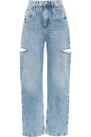 Maison Margiela Cut-out high-rise wide-leg jeans