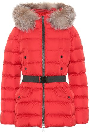 Moncler Clion quilted fur-trimmed down coat