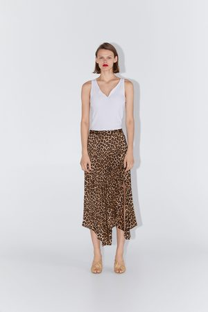 great deals 2017 customers first look good shoes sale Pleated animal print skirt