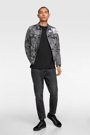 Zara Denim graffiti jacket