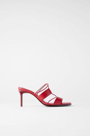 Zara Leather strappy high-heel sandals