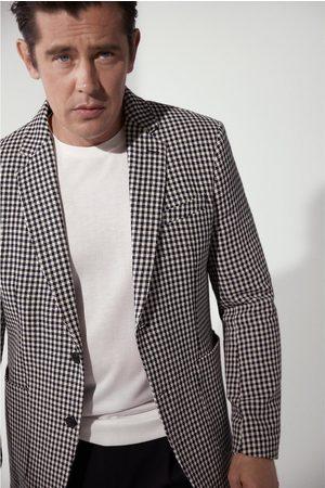 Zara Men Blazers - Textured check blazer
