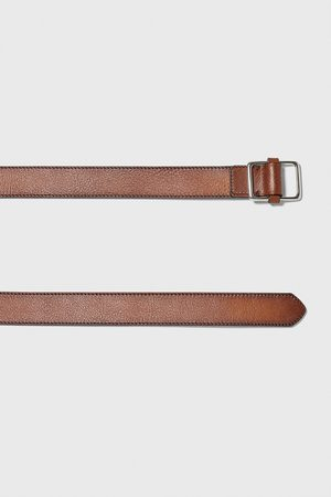 Zara Men Belts - Topstitched belt