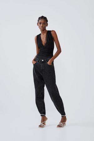 Zara Contrast dotted mesh bodysuit