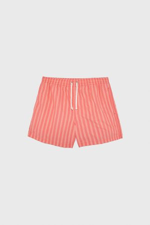 Zara Striped swimming trunks