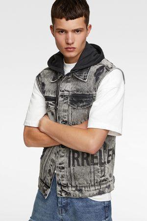 Zara Denim hooded waistcoat