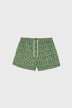 Zara Floral print swimming trunks
