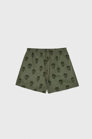Zara Skull print swimming trunks