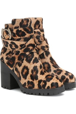 Charlotte Olympia Leopard-print calf hair ankle boots