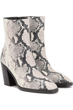 Stuart Weitzman Wynter snake-effect ankle boots