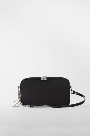 Zara Nylon baguette bag
