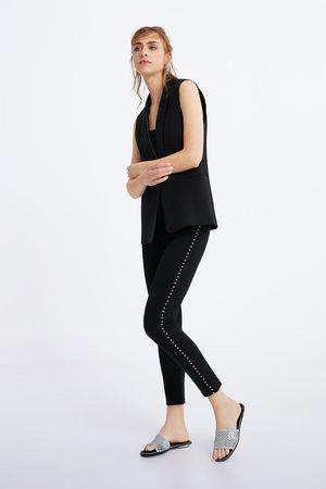 Zara Appliquéd leggings