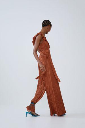 Zara Creased-effect jumpsuit